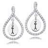 Zeta Tau Alpha White CZ Figure 8 Earrings