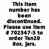 Ten20® - 8 oz. Jars (Case) DISCONTINUED - Use Item #702347-3