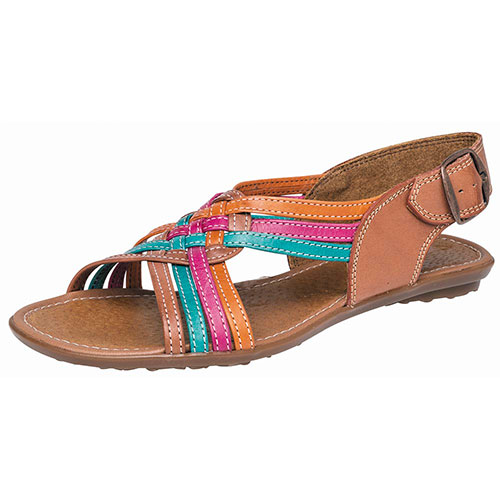 HUARACHES PLAYERA 238L CAMEL MULTICOLOR
