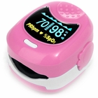 CMS-50QB Pediatric Fingertip Pulse Oximeter with Alarm - Pink