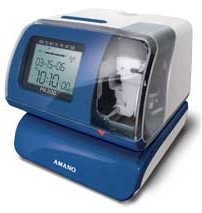 AMANO PIX-200 Electronic Atomic Time Recorder/Date Stamp