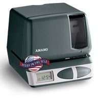 AMANO PIX-21 Electronic Time Clock & Time Stamp
