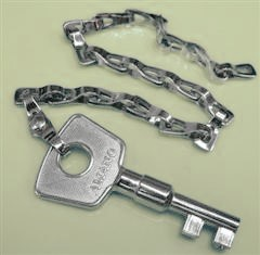 Chromed Brass Station Key with Chain