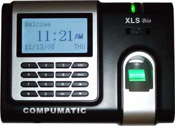 COMPUMATIC XLS BIOMETRIC FINGERPRINT TIME CLOCK