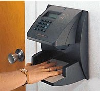HANDPUNCH 3000E RECOGNITION SYSTEMS BIOMETRIC HAND PUNCH TIME CLOCK (RSI/SCHLAGE) with ETHERNET