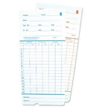 SEMI MONTHLY / MONTHLY TOP LOADING TIME CARDS CTR6200M  - 250/BOX