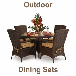 "5-Piece Outdoor Dining Sets <img src=""http://site.wickerhomepatiofurniture.com/images/waterdropsm.gif"" width=""10"" height=""20"" border=""0"">"