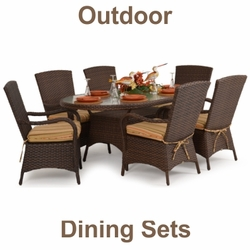 """7-Piece Outdoor Dining Sets<img src=""""http://site.wickerhomepatiofurniture.com/images/waterdropsm.gif"""" width=""""10"""" height=""""20"""" border=""""0"""">"""
