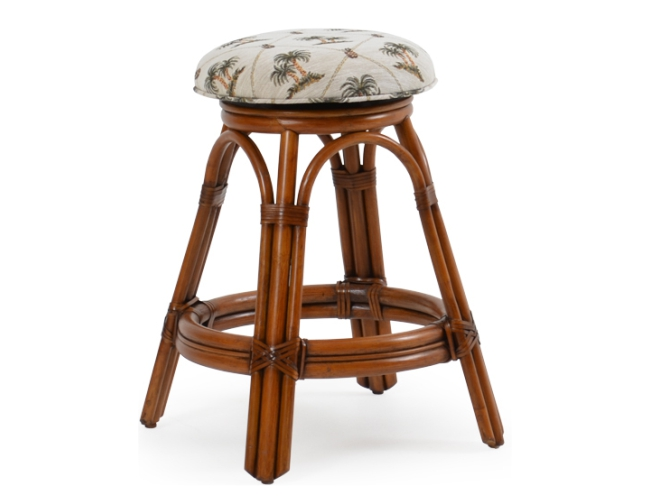 Bscs Backless Swivel Rattan Counter Stool
