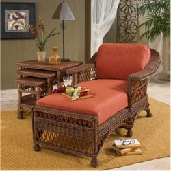 Cla cl clarissa indoor rattan chaise lounge chair for Chaise lounge bar