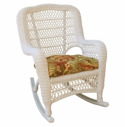 Cape Charles Resin Wicker Rocking Chair