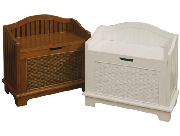 Csb28 Cottage Wicker Storage Bench