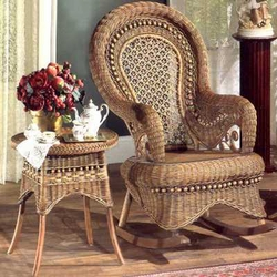 Country Wicker Rocking Chair
