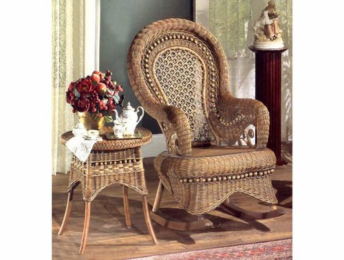 Cr Country Wicker Rocking Chair
