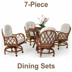 Dining Sets with Caster Chairs