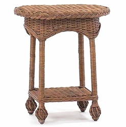 Eastern Shore Wicker Drink Table