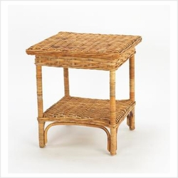 French Country Rattan Manor Table