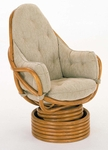 High Back Rattan Swivel Rocker