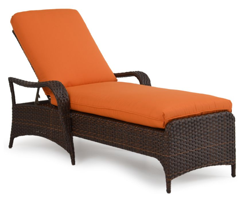Double single resin wicker chaise lounges - Chaise isabelle sentou ...