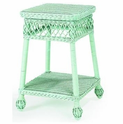 Martha�s Vineyard Wicker Side Table