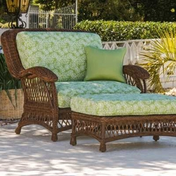 Outdoor Wicker Chair And A Half