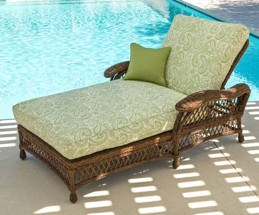 Chclh wicker chaise and a half for Chaise and a half