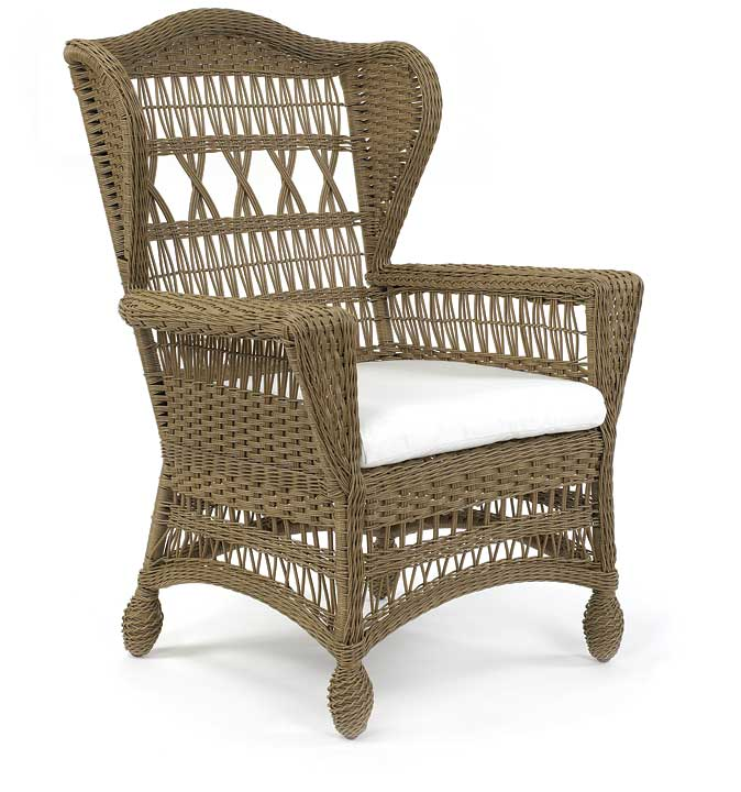4505 Outdoor Wicker Wingback Chair