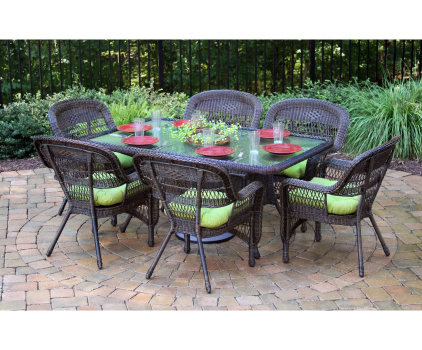 Ps7d Portside 7 Piece Outdoor Wicker Dining Set
