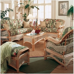 seascape rattan furniture set wicker for sunroom