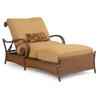 Snblcl rsn sanibel wicker chaise lounge chair for Chaise and a half lounge