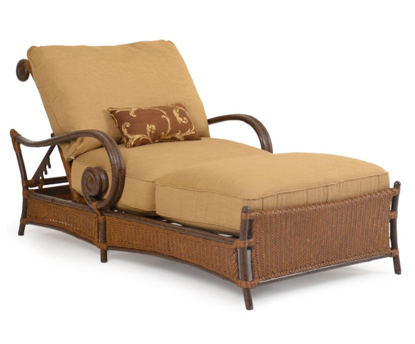 Tsyclh tuscany resin wicker chaise and a half for Chaise and a half