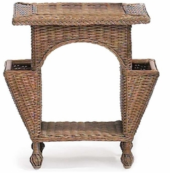 Wicker Reading Table