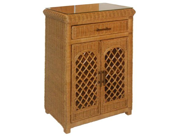 Fsc35 Wicker Cabinet W Drawer