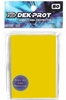 Dek Prot YuGiOh Sized Card Sleeves - Sunflower Yellow (50 Card Sleeves)