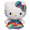 Hello Kitty Rainbow Tie Dye (Regular Size) - TY Beanie Baby