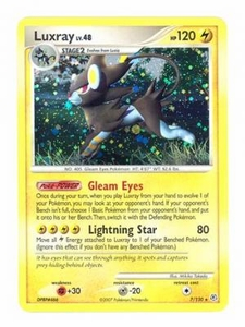 Pokemon Diamond & Pearl Holo Rare Card - Luxray 7/130