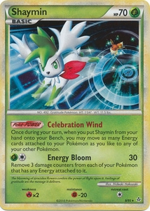Pokemon HS Unleashed Card Holo Rare Shaymin 8/95