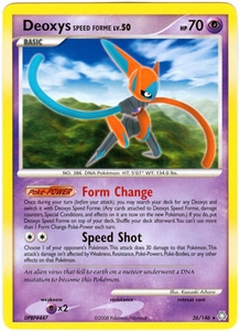 Pokemon Legends Awakened Rare Card - Deoxys Speed Forme 26/146