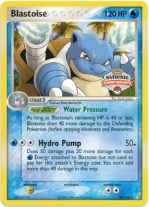 Pokemon Rare Promo Single Card - Blastoise 14/100 (2007 Nationals)
