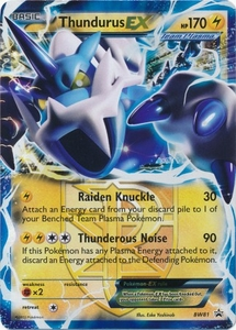 Thundurus Ex Bw81 Pokemon Ultra Rare Promo Card