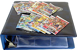 YuGiOh Card Packs + Gaming Card Binder + Plastic Sheets Combo