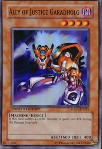 YuGiOh Hidden Arsenal 1 Ally of Justice Garadholg HA01-EN015 Super Rare Single Card