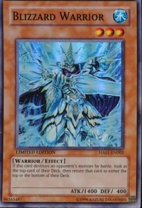 YuGiOh Hidden Arsenal 1 Blizzard Warrior HA01-EN002 Super Rare Single Card