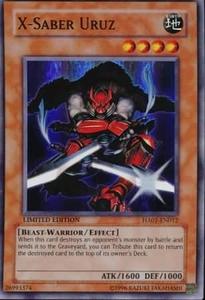 YuGiOh Hidden Arsenal 1 X-Saber Uruz HA01-EN012 Super Rare Single Card