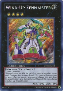 YuGiOh Secret Rare Promo Card - Wind-Up Zenmaister CT08-EN002
