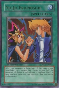 YuGiOh Ultra Rare Promo Card - Yu-Jo Friendship JUMP-EN007