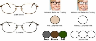 Multi-View Computer Reading Glasses in Titanium Frames Style #23T