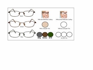 Multi-View Computer Reading Glasses in Titanium Frames Style #25T