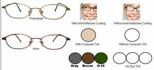 Multi-View Computer Reading Glasses in Titanium Frames Style #26T