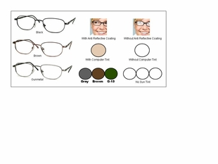 Multi-View Computer Reading Glasses Style #18
